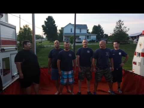 Ohio firefighters accept cold water challenge