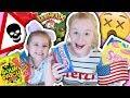 BRITISH KIDS TRY AMERICAN CANDY TASTE TEST