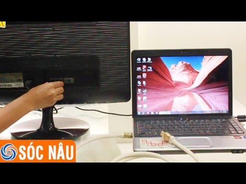 Cách kết nối máy tính với tivi LCD