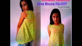 Como Hacer Una Blusa Fácil!!!! DIY How To Make A Blouse