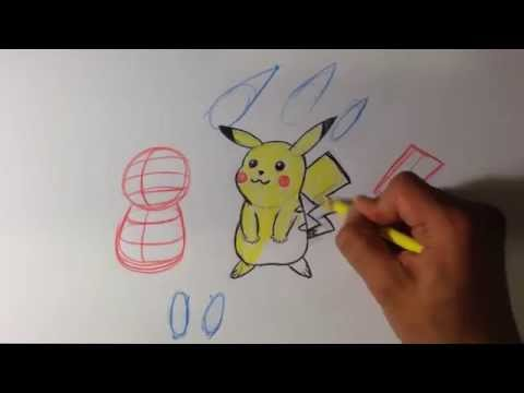 How to Draw Pikachu from Pokemon - Easy Things To Draw