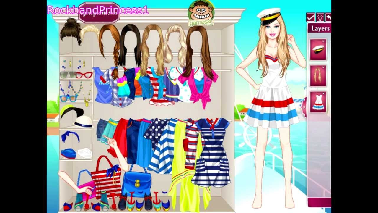 Navy Style Barbie Dress Up Game Youtube