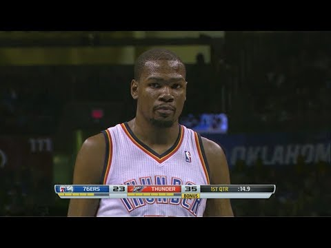 2014.03.04 - Kevin Durant Full Highlights vs 76ers - 42 Pts, 9 Reb
