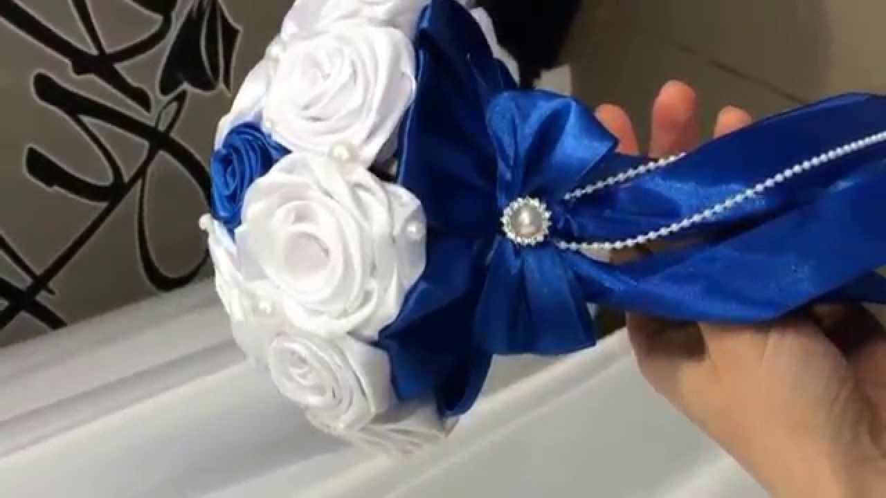 Букеты невесты из лент своими руками фото