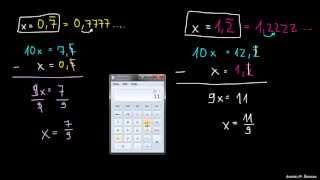 Pretvorba ponavljajočih decimalk v ulomek 1