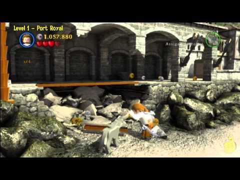 Lego Pirates of the Caribbean: Level 1 Port Royal - FREE PLAY (Minikits and Compass Items) - HTG