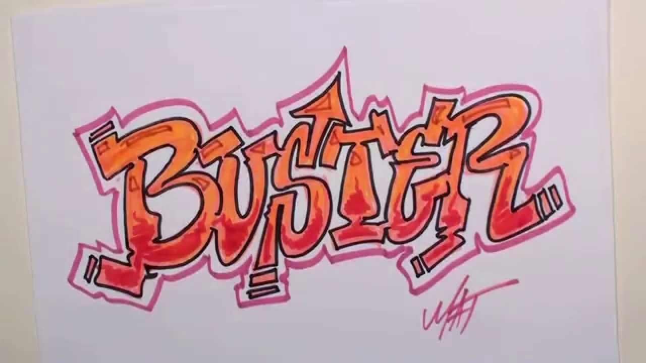 graffiti writing buster name design