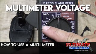 multimeter voltage using a multi meter