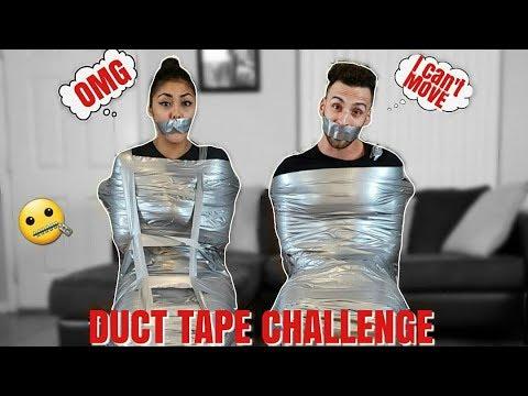 DUCT TAPE CHAIR ESCAPE CHALLENGE!! (ESCAPE TRAP)