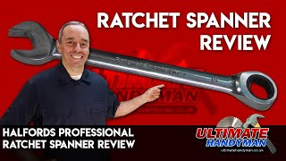 Halfords professional ratchet spanner review
