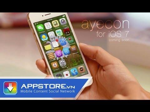[Cydia Tweak] Ayecon và Ayeris - 2 bộ theme đẹp cho máy iPhone chạy iOS 7