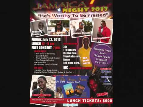 Minister Blessed Promo for Jamaica night July 12 , 2013  (15 Cassia Park Road Kingston 10 )