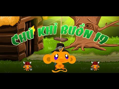 Game chú khỉ buồn 19 - Video hướng dẫn chơi game 24H
