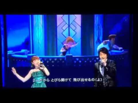 アナと雪の女王 神田沙也加 テレビ初披露