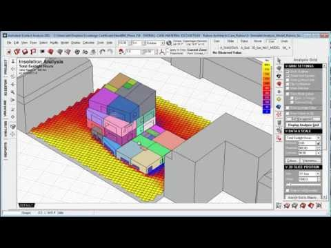 Ecotect Introduction 5: Means of Analysis (Zones, Surfaces, and Grids)
