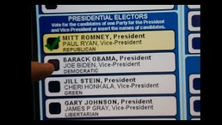 Voting Machine in Pennsylvania Not Accepting Votes for Obama, 2012