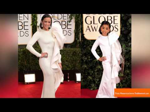 Adorable Yet Odd Kid Versions Of Celebs at the Golden Globes