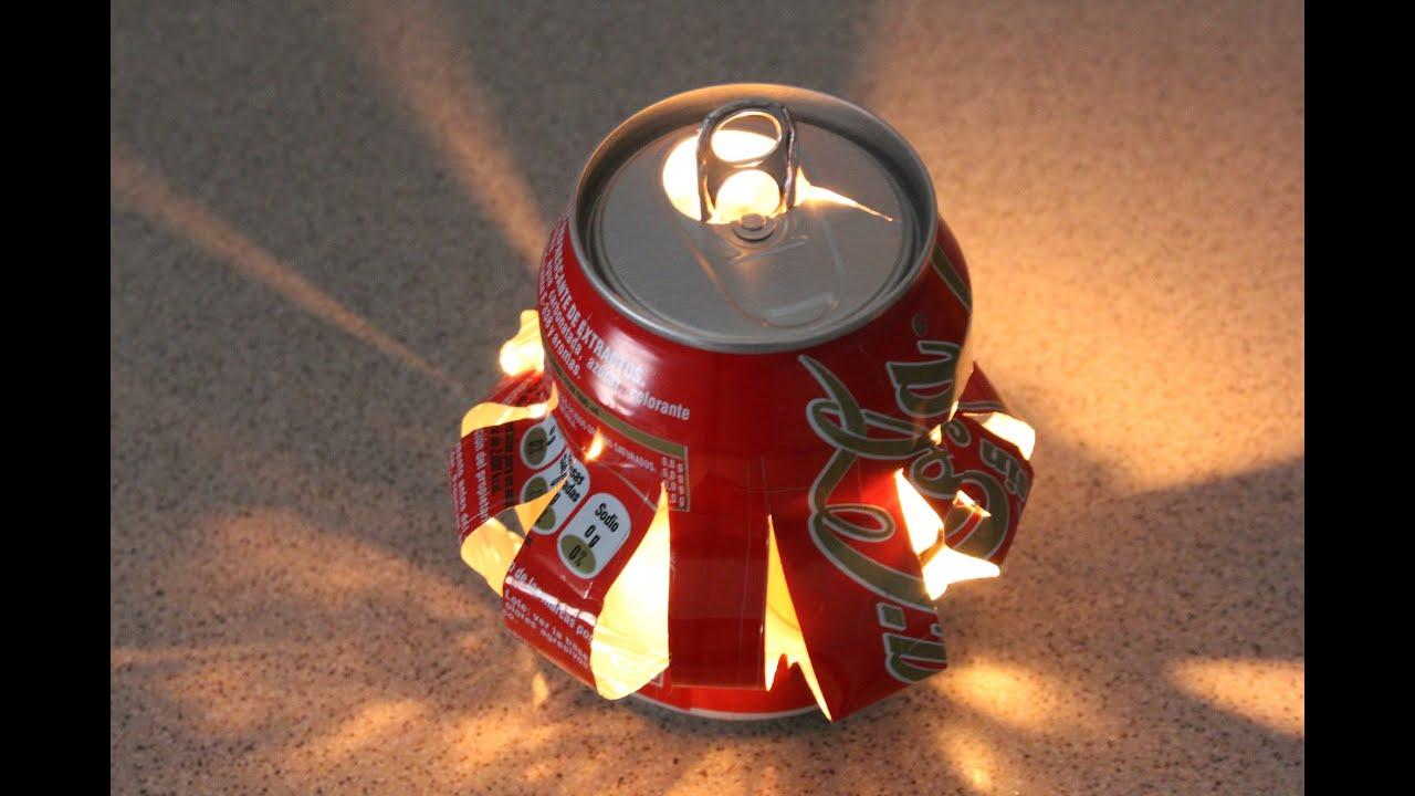 Reciclaje de latas farolillo reciclyng a coke youtube - Manualidades faciles con latas ...