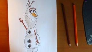 How To Draw Olaf From Frozen, Como Dibujar A Olaf De