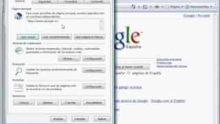 Google, Página De Inicio En Internet Explorer
