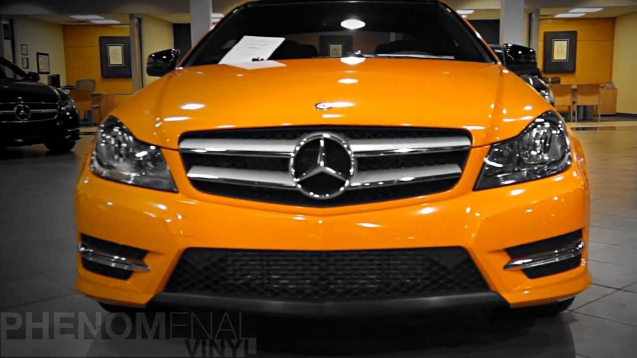 mercedes benz of massapequa orange vinyl wrapped c300 youtube. Cars Review. Best American Auto & Cars Review