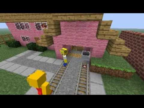 The Simpsons opening in Minecraft,