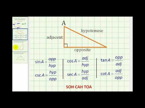Example: Determine What Trig Function Relates Specific Sides of a Right Triangle