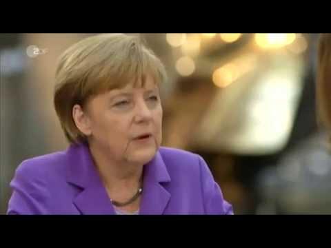 Angela Merkel - Sommerinterview 2014 mit Bettina Schausten im ZDF