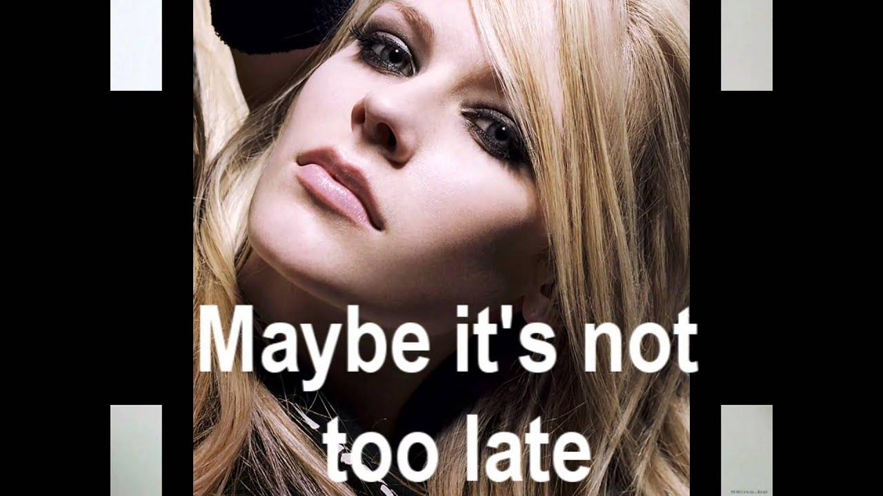 Avril Lavigne- Tomorrow Lyrics - YouTube Avril Lavigne Tomorrow