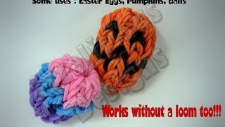 Rainbow Loom Easter Egg/Ball Charm