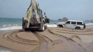 4x4 Stuck At The Beach In Al Aqaa High Tide Sea Water