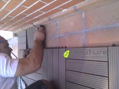 Loseta madera tecnologica de facil instalacion youtube - Losetas de madera ...