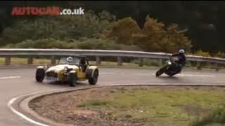 Car Vs Bike (Caterham R500 Vs Ducati) Part One By