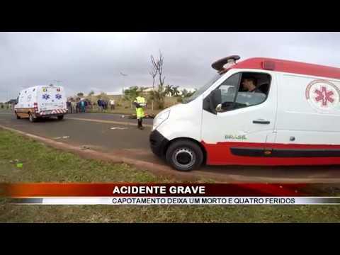 20/08/2019 - Capotamento registrado na Rodovia Faria Lima em Barretos deixa 4 feridos e 1 vítima fatal