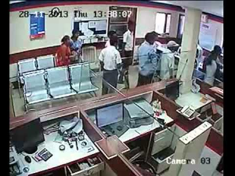 Central Bank of India robbery CCTV Footage