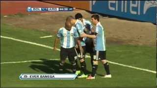Gol De Banega. Bolivia 1 Argentina 1. Fecha 12