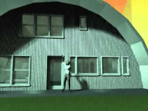 quonset hut home by ecohouse youtube. Black Bedroom Furniture Sets. Home Design Ideas