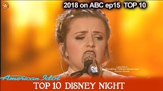 """Maddie Poppe sings """"The Bare Necessities"""" The Jungle Book Disney Night  American Idol 2018 Top 10"""