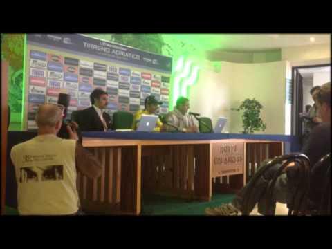 Conferenza stampa Alberto Contador vincitore Tirreno Adriatico