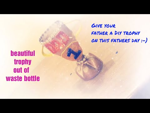 bottle craft/diy fathers day gift/last minute diy gifts for dad/fathers gift ideas/easy  diy|kk7