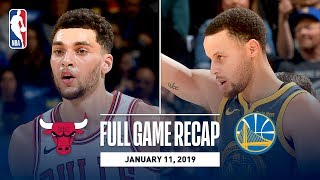 Full Game Recap: Bulls vs Warriors   Steph, Klay, and Durant Combine for 80 Points