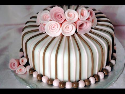 Decoración de Tartas Pasteles Cakes Tortas con FONDANT | Fácil