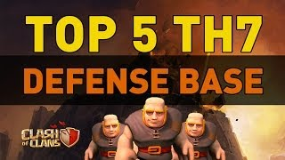 Clash Of Clans TOP 5 TH7 Defense Bases