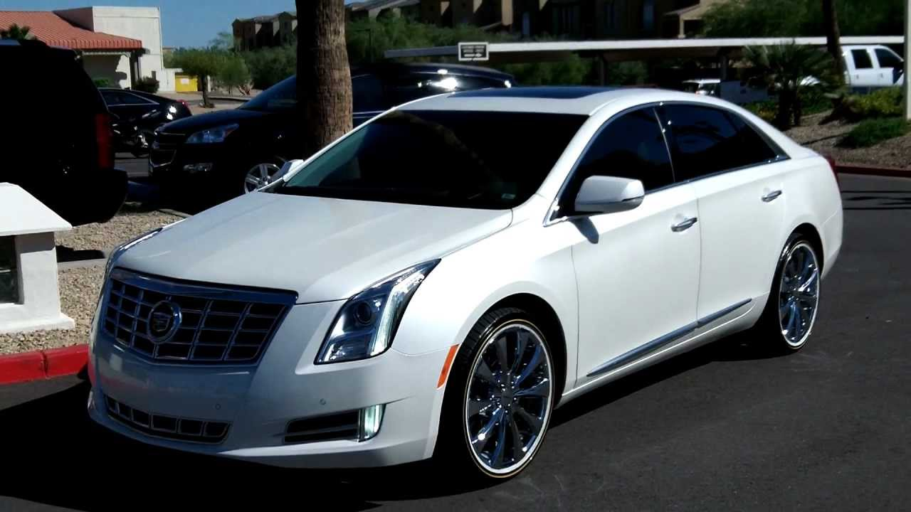 2013 Cadillac Xts White Diamond Tricoat Rear Vision