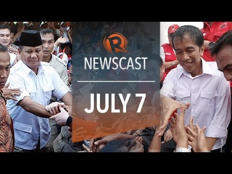 Rappler Newscast: Indonesia polls, Binay in SWS, Typhoon Neoguri