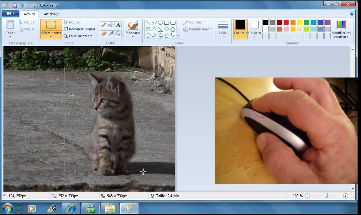 Comment recadrer une photo en utilisant le logiciel paint - Comment couper des parties d une video ...