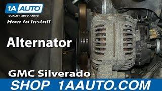 How To Install Replace Alternator 5.3L Chevy GMC Silverado