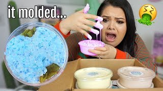 unboxing a 1 Year old Slime Package...