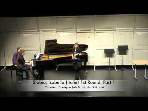 Stabio, Isabella (Italie) 1st Round. Part 1