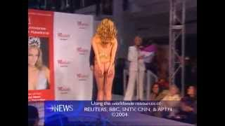OOPS! Skirt Falls Down On Catwalk Miss Universe